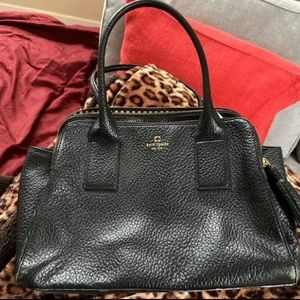 Kate spade black leather bag